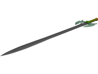 Fantasy Sword 3D Model