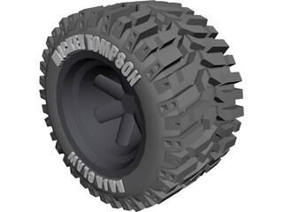 Micky Tompson Baja Claw Tyre 3D Model