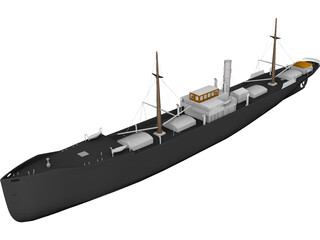 Freight Ship 3D Model