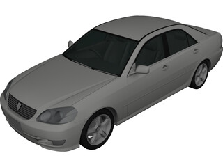 Toyota Mark II (2000) 3D Model