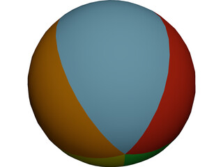 Beach Ball 3D Model 3D Preview
