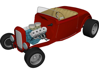 Ford Hotrod Roadster (1932) 3D Model
