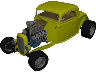Ford Hotrod Coupe (1932) 3D Model