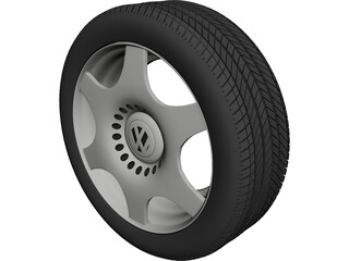VW Rim and Tyre 3D Model