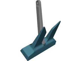 Danforth Anchor 3D Model