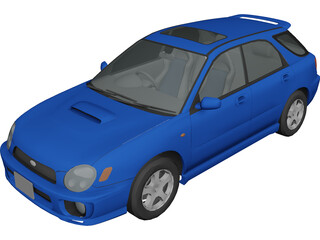 Subaru Impreza WRX Sport Wagon 3D Model 3D Preview