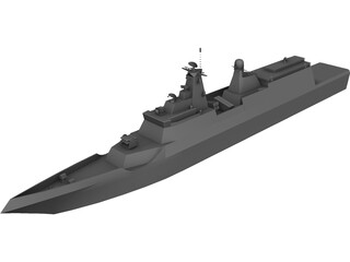 Russian Conceptual Frigate 3D Model 3D Preview