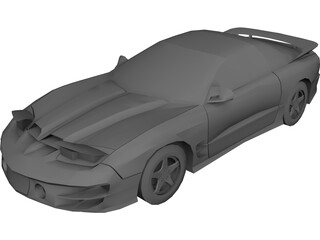 Pontiac Trans Am WS6 3D Model