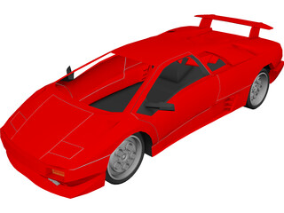 Lamborghini Diablo 3D Model 3D Preview