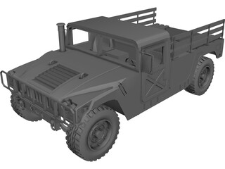 HUMVEE 2-door 3D Model 3D Preview