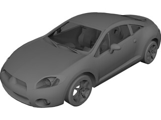 Mitsubishi Eclipse GT (2006) 3D Model