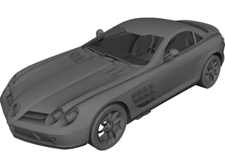 Mercedes-Benz SLR McLaren 3D Model 3D Preview