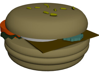 Hamburger [+All Toppings] 3D Model