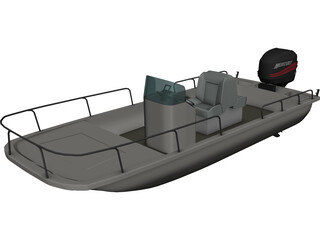 Boston Whaler Boat 3D Model