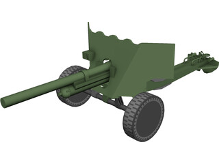 British Anti-Tank Cannon 3D Model