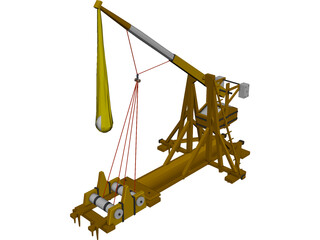 Medieval Catapult Trebuchet 3D Model