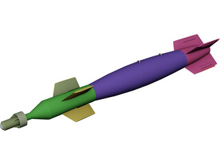 GBU-12 Laser Guided Bomb Missile 3D Model