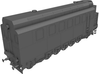 Lomonosov Train 3D Model