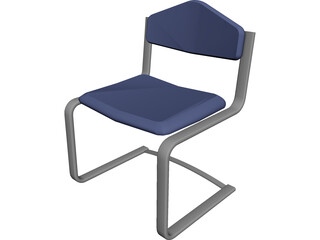 Waiting Room Chair 3D Model
