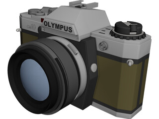 Olympus OM10 Photo Camera (35 mm) 3D Model 3D Preview