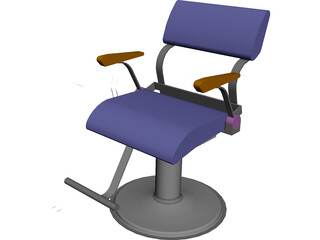 Takara Belmont Fresco Hair Styling Chair 3D Model