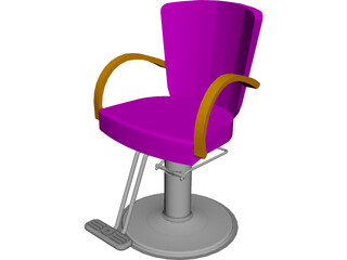 Takara Belmont Liu Hair Styling Chair 3D Model