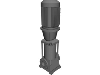 Grundfos Pump 3D Model 3D Preview