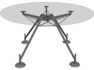 Table Hi-Tech 3D Model