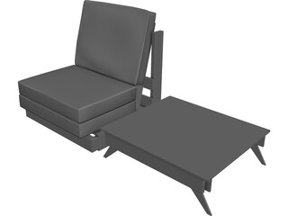 Sofa Outdoor 3D Model