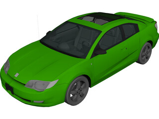 Saturn Ion Quad Coupe (2004) 3D Model