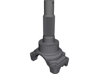 Transmission Yoke - Driveshaft 3D Model