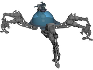 Light Spider Rover Robot 3D Model