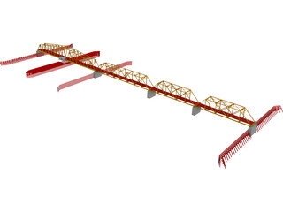 Swing Span Truss Bridge 3D Model