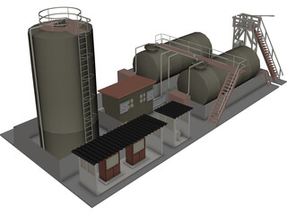 Petroleum Refinery 3D Model