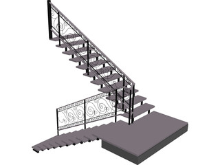 Stair 3D Model 3D Preview