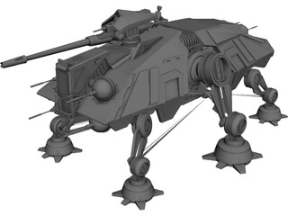 Star Wars AT-TE Walker 3D Model