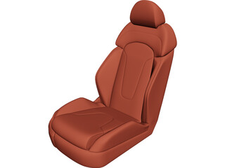 Car Seat Leather 3D Model