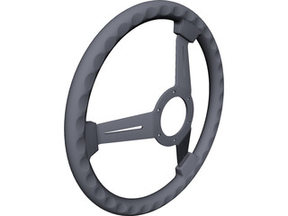Nardi Classic Steering Wheel 330mm CAD 3D Model