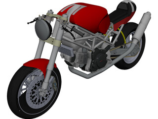 Ducati Monster CAD 3D Model
