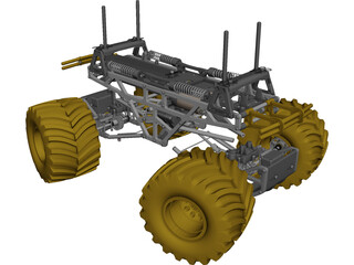 Tamiya TXT-1 RC 1/10 Monster Truck CAD 3D Model
