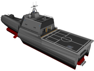 USS Independence (LCS-2) CAD 3D Model