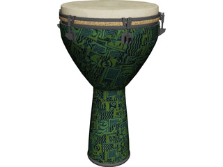 Djembe Remo 3D Model 3D Preview