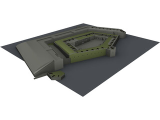 Fort Knox Maine 3D Model