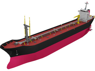 Oil Tanker Ship 3D Model