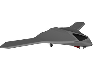 X-47B Unmanned Drone CAD 3D Model