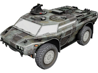 Armored Security Vehicle 3D Model