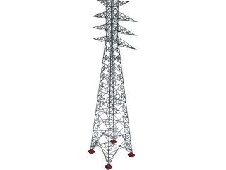 Power Transmission Tower 3D Model