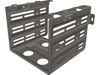 HDD Holder CAD 3D Model