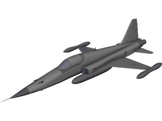 Northrop F-5E Tiger 2 CAD 3D Model