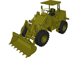 Hydraulic Loader CAD 3D Model